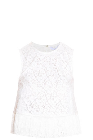 Derek Lam 10 Crosby Women`s Fringed Top Boutique1