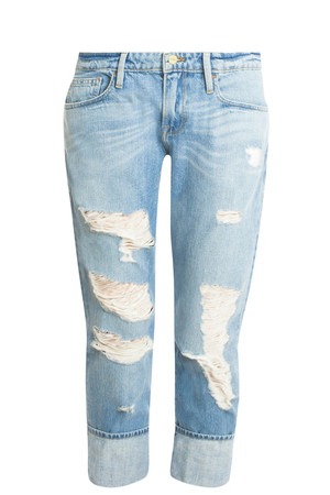 Frame Denim Women`s Garcon Destroyed Jeans Boutique1