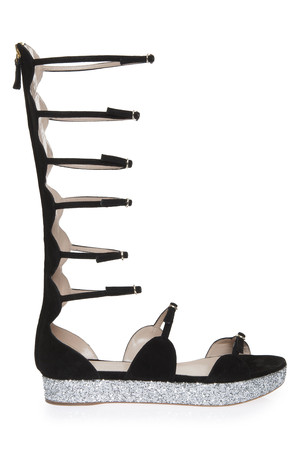 Giambattista Valli Women`s Glitter Platform Sandal Boutique1