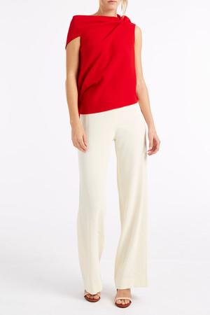 Helmut Lang Women`s Crepe Wide Trousers Boutique1