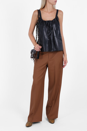 Helmut Lang Women`s High Waist Twill Trousers Boutique1