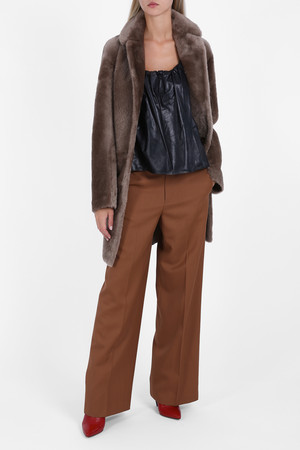 Helmut Lang Women`s Reversible Shearling Coat Boutique1