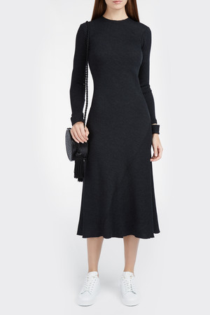 Helmut Lang Women`s Rib Knit Midi Dress Boutique1