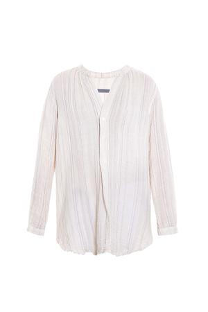 Raquel Allegra Women`s Henley Cotton Stripe Blouse Boutique1