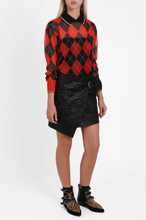 Isabel Marant Women`s Crinkle Belted Skirt Boutique1