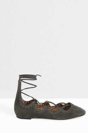 Isabel Marant Women`s Leoni Lace Up Ballerina Boutique1