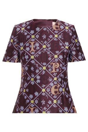 Mary Katrantzou Women`s Jacquard Peplum Top Boutique1