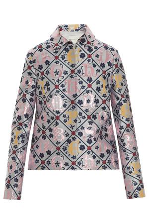 Mary Katrantzou Women`s Jaquard Grid Jacket Boutique1