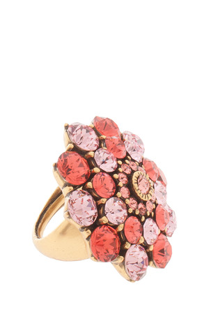 Oscar De La Renta Women`s Jeweled Floral Ring Boutique1