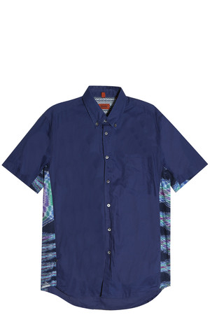 Missoni Men`s Knit Panelled Shirt Boutique1