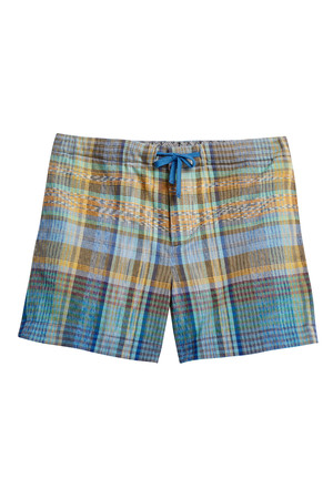 Knitted Check Shorts