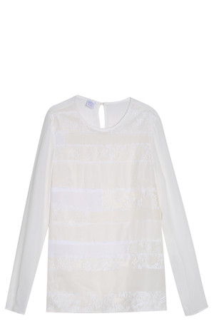 Oscar De La Renta Women`s Lace Blouse Boutique1
