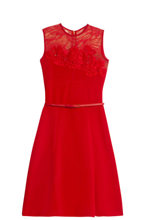 Elie Saab Women`s Lace Jersey Dress Boutique1