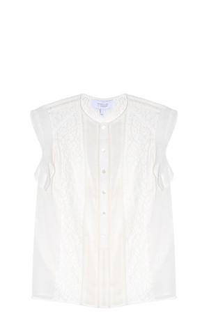 Derek Lam 10 Crosby Women`s Lace Panelled Blouse Boutique1