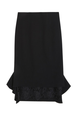 Oscar De La Renta Women`s Lace Skirt Boutique1
