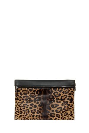 Victoria Beckham Women`s Large Leopard Zip Pouch Boutique1