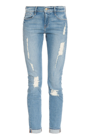 Frame Denim Women`s Le Garcon Destroy Jean Boutique1