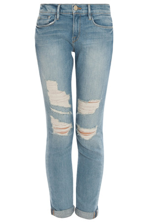 Frame Denim Women`s Le Garcon Destroyed Jeans Boutique1