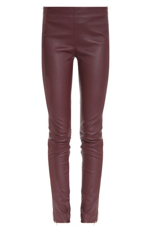 Adam Lippes Women`s Leather Side Zip Pant Boutique1