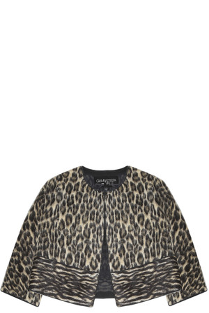 Giambattista Valli Women`s Leopard Alpaca Jacket Boutique1
