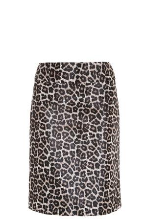 Theory Women`s Leopard Print Skirt Boutique1