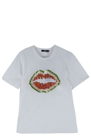 Markus Lupfer Women`s Lips T- Shirt Boutique1