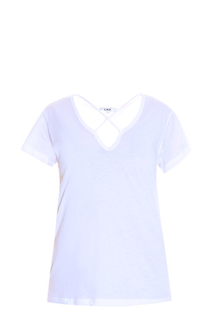 Lna Women`s Cross Front T-shirt Boutique1