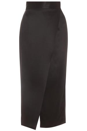 Adam Lippes Women`s Long Wrap Heavy Silk Skirt Boutique1