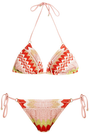 Missoni Women`s Lurex Triangle Bikini Boutique1