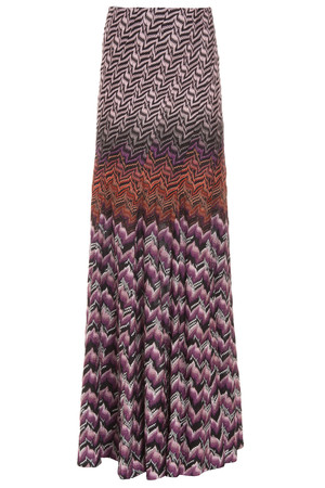 Missoni Women`s Lurex Wave Long Skirt Boutique1