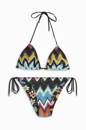 Missoni Women`s Zigzag Lame Classic Bikini Boutique1
