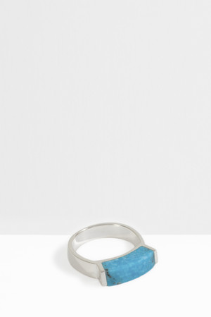 Monica Vinader Women`s Linear Turquoise Stone Ring Boutique1
