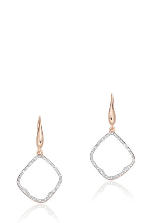 Monica Vinader Women`s Riva Diamond Hoop Earrings Boutique1