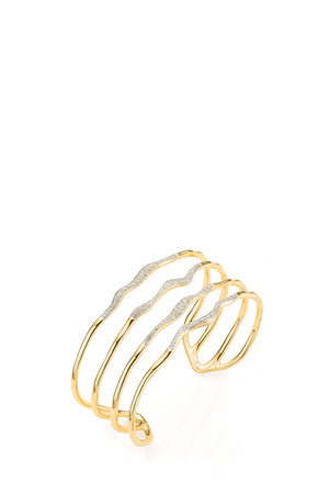 Monica Vinader Women`s Riva Diamond Wave Cuff Boutique1