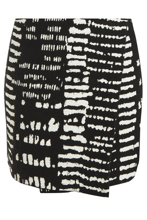 Proenza Schouler Women`s Monocrome Tweed Wrap Skirt Boutique1