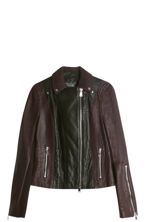 Vince Women`s Motto Leather Jacket Boutique1