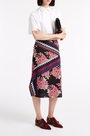 Msgm Women`s Floral Drape Skirt Boutique1