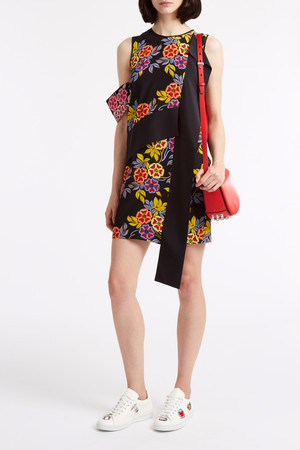 Msgm Women`s Neon Floral Dress Boutique1