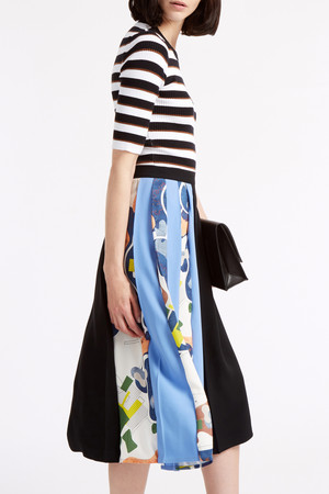 Msgm Women`s Pleated Midi Skirt Boutique1