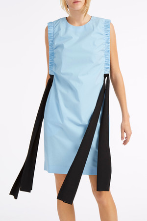 Msgm Women`s Poplin Ruched Dress Boutique1