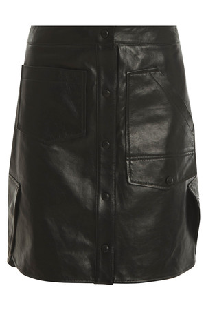 Alexander Wang Women`s Multi Pocket Leather Skirt Boutique1