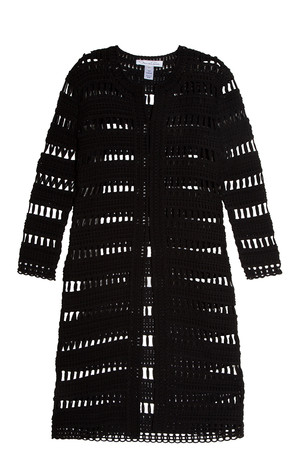 Oscar De La Renta Women`s Mesh Coat Boutique1