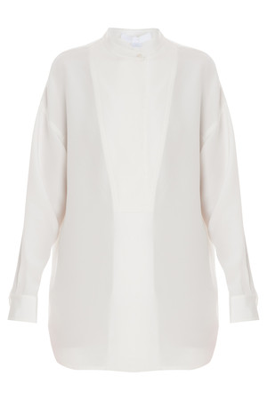 Alexander Wang Women`s Oversized Silk Crepe Top Boutique1