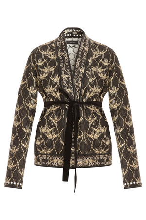 Isabel Marant Women`s Palm Tree Jacket With Belt Boutique1