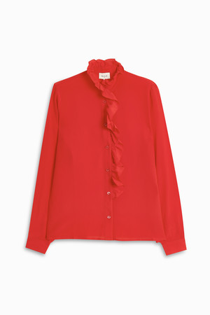 Paul Joe Women`s Ruffle Neck Shirt Boutique1