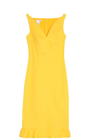 Oscar De La Renta Women`s Peplum Dress Boutique1