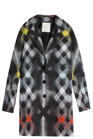 Marco De Vincenzo Women`s Plaid Coat Boutique1