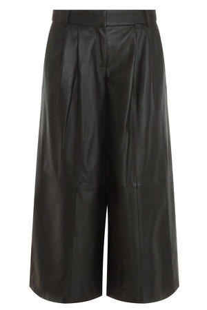 Tibi Women`s Pleated Leather Trousers Boutique1