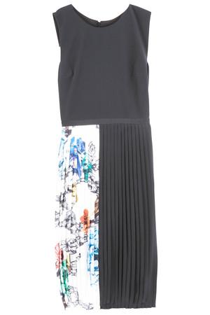 Pleated Print Dress