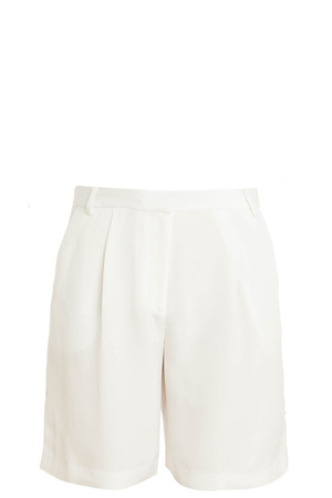 Tibi Women`s Pleated Silk Shorts Boutique1